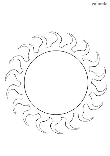 Sonne Ausmalbild