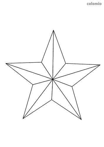 Fünfzackiger Stern Malvorlage