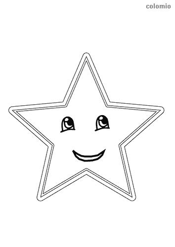 Lachender Stern Malvorlage