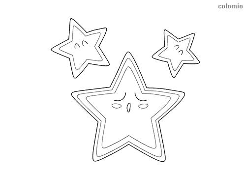 Schlafender Stern Ausmalbild