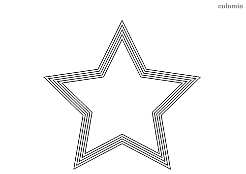 Stern mit Rahmen Ausmalbild