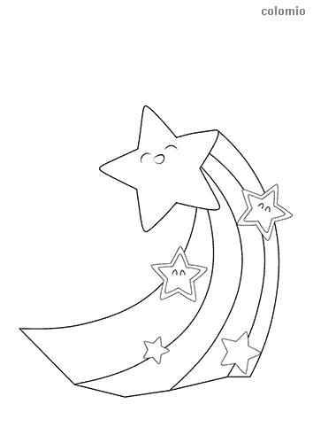 Sterne mit Schweif ausmalen
