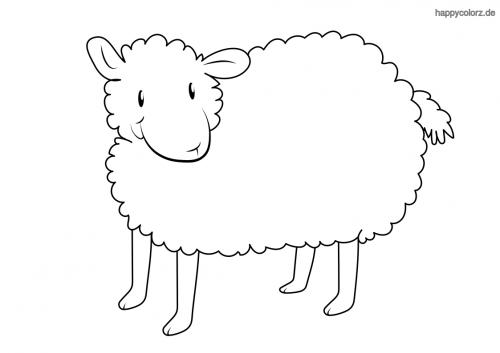 Niedliches Schaf Ausmalbild