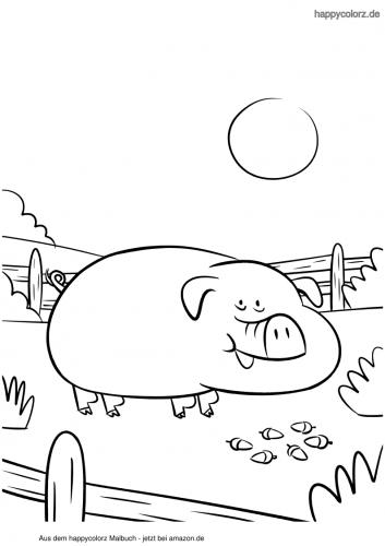 Großes Schwein Malvorlage