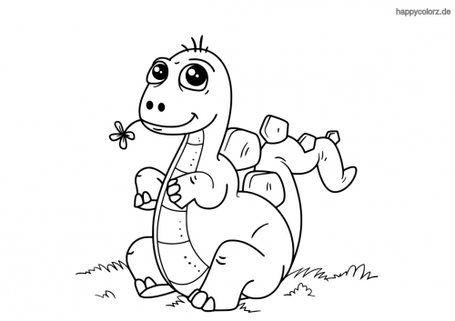 Dino Malvorlage Kostenlos Dinosaurier Ausmalbilder
