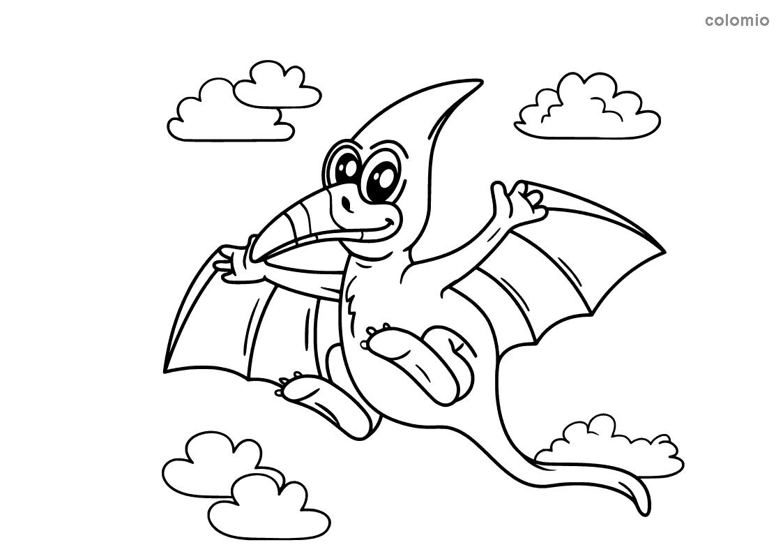 Flugdino Pteranodon Ausmalbild