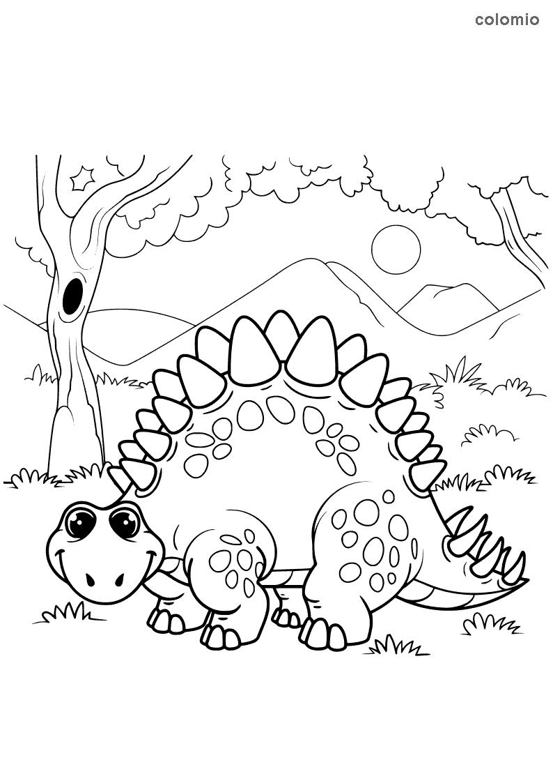 Stegosaurus Ausmalbild
