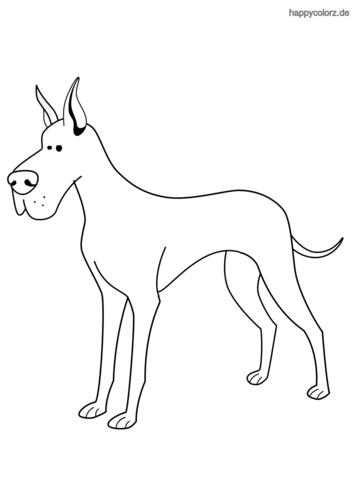 Deutsche Dogge Malvorlage