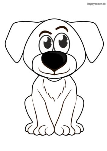 Hundewelpen Malvorlage