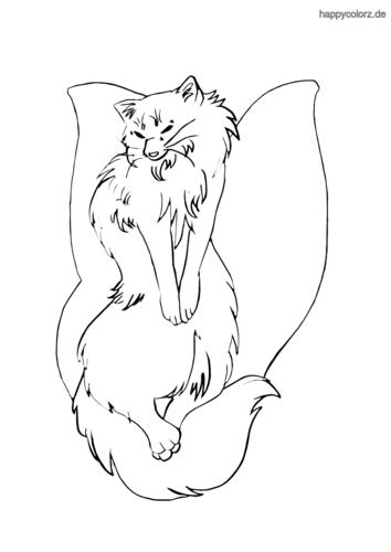 Waldkatzenmix Ausmalbild