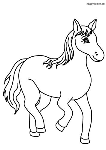 Lachendes Pferd Malvorlage