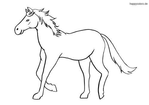 Pferd im Trab Malvorlage