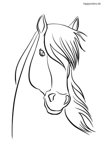Pferdekopf Ausmalbild