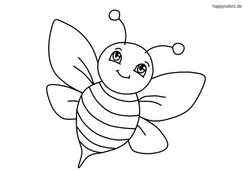 Einfache Biene ausmalen