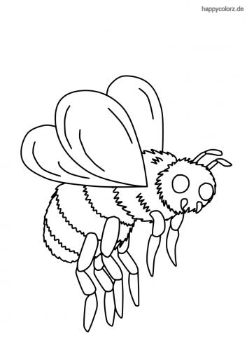 Fliegende Biene Ausmalbild