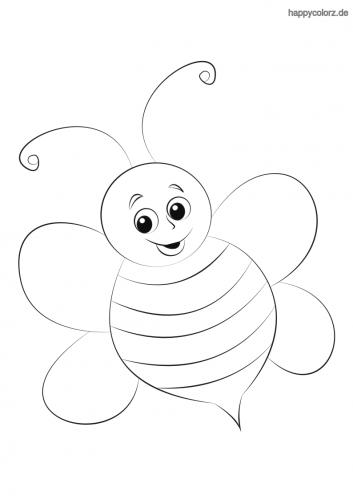 Lachende Biene Malvorlage
