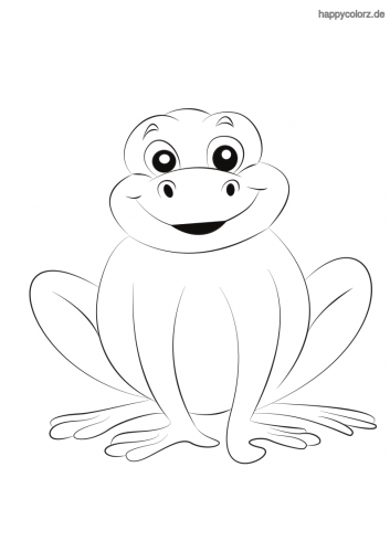 Einfacher Frosch Ausmalbild