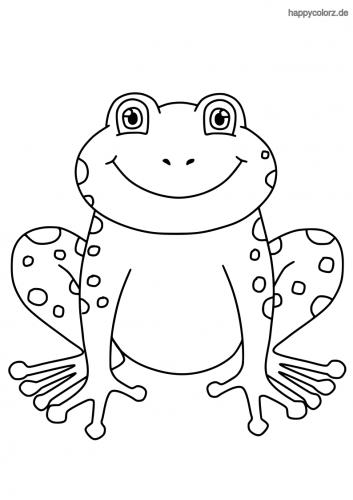 Lachender Frosch Ausmalbild