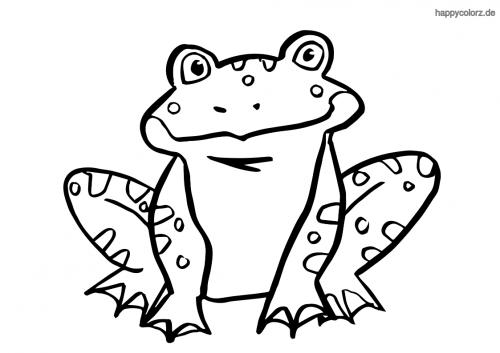 Lächelnder Frosch Ausmalbild