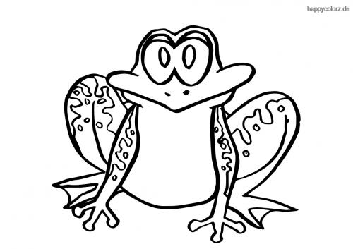 Sitzender Frosch Ausmalbild