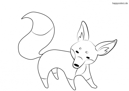 Einfacher Fuchs ausmalen