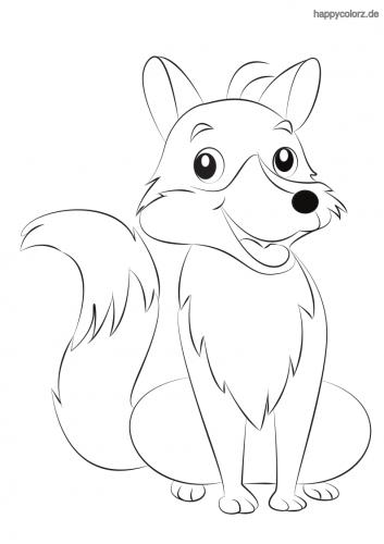 Lachender Fuchs ausmalen