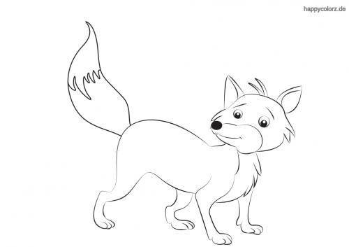 Lächelnder Fuchs ausmalen