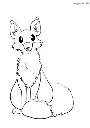 Süßer Fuchs ausmalen