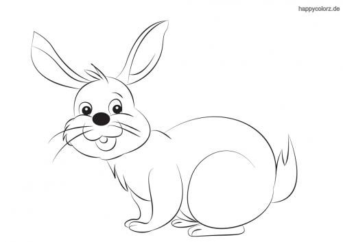 Lachender Hase Malvorlage