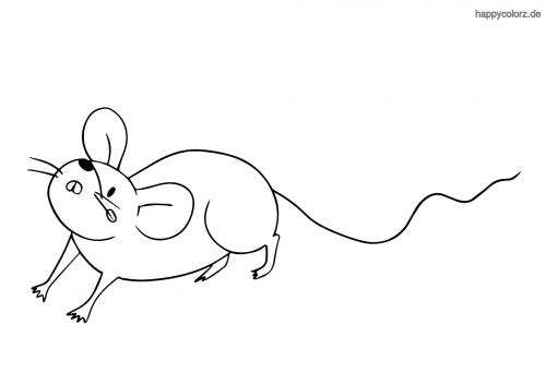 Einfache Maus ausmalen