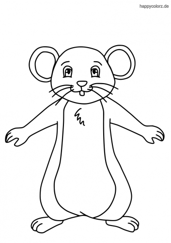 Lustige Maus ausmalen