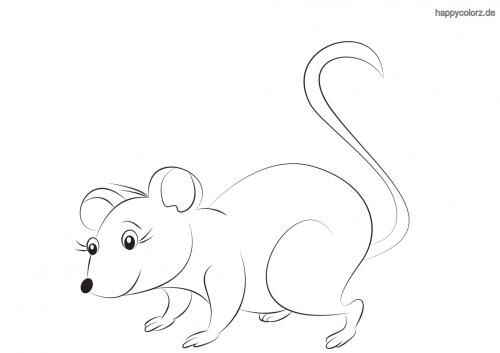 Mäuschen ausmalen