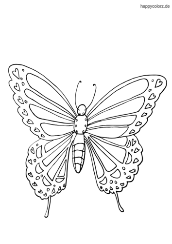 Einfacher Schmetterling Ausmalbild