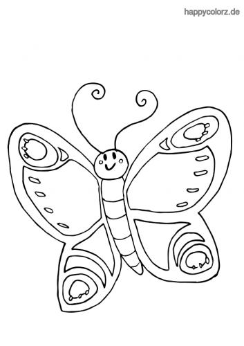 Ausmalbild Schmetterling Kostenlos Malvorlage Schmetterling