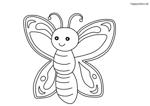 Lachender Schmetterling Malvorlage
