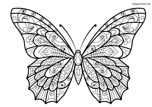 Ausmalbilder Schmetterling Erwachsene | Kinder Ausmalbilder