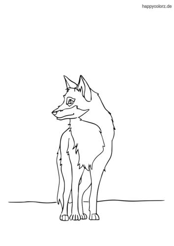 Weißer Wolf ausmalen