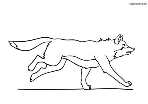 Wolf auf der Jagd ausmalen