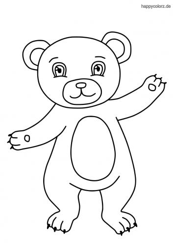 Einfacher Bär Malvorlage