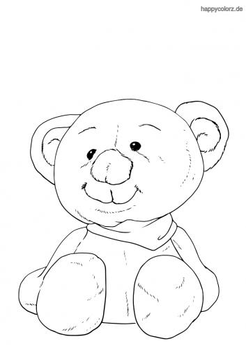 Teddybär Malvorlage