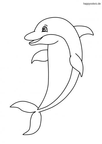 Lachender Delfin ausmalen