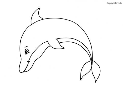 Springender Delfin ausmalen