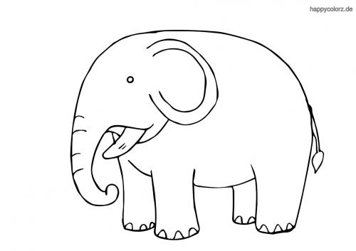Kleiner Elefant Ausmalbild