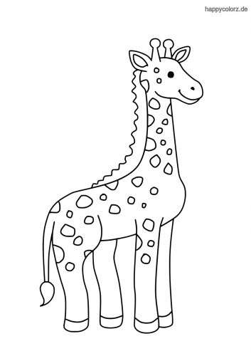 einfach giraffe ausmalbild