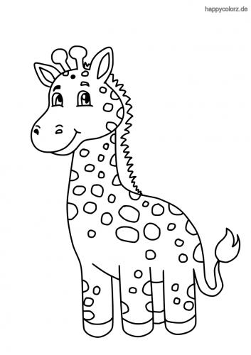 Giraffenbaby Ausmalbild