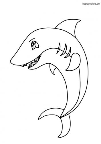 Einfacher Hai Ausmalbild