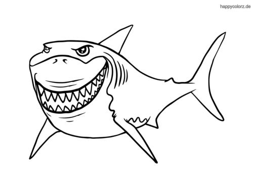 Lachender Hai Malvorlage