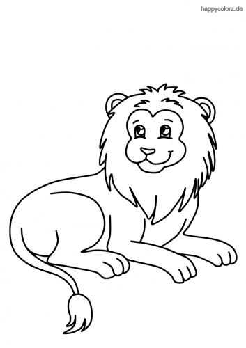Lachender Löwe Ausmalbild
