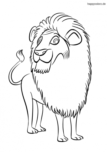 Neugieriger Löwe Malvorlage