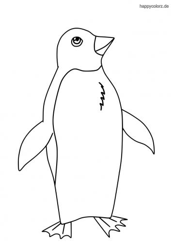 Einfacher Pinguin Malvorlage
